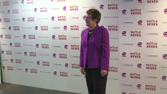 billie jean king at billie jean king at battle of the sexes uk premi at vue leicester square on june 26 2013 in london england - battle of the sexes concept stock videos and b-roll footage