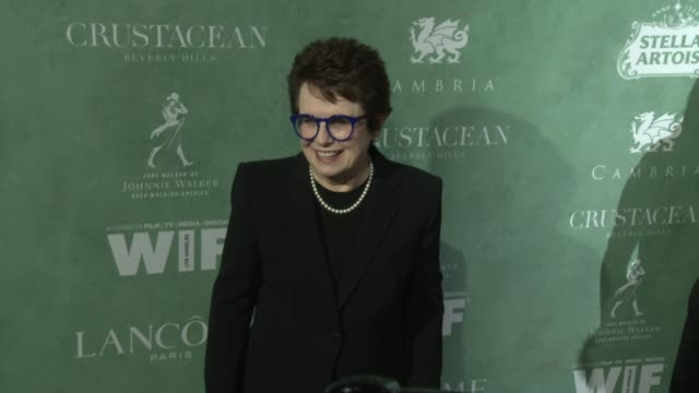 billie jean king at the 11th annual women in film pre-oscar cocktail party at crustacean on march 02, 2018 in beverly hills, california. - ビリー・ジーン・キング点の映像素材/bロール