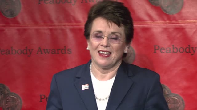 billie jean king at the 66th annual peabody awards press room at waldorf astoria in new york, new york on june 4, 2007. - ビリー・ジーン・キング点の映像素材/bロール