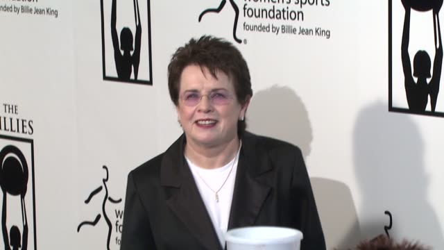 billie jean king at the billies at the international ballroom at the beverly hilton in beverly hills california on april 11 2007 - billie jean king stock videos & royalty-free footage