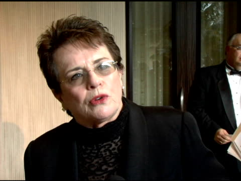 billie jean king on the inaugural billie awards and on women's sport at the women's sports foundation presents inaugural the billies at the beverly... - ビリー・ジーン・キング点の映像素材/bロール