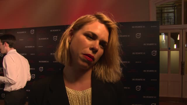 interview billie piper on saucy roles box sets and bond baddies at penny dreadful' sky launch at st pancras renaissance hotel on may 12 2014 in... - fetishism stock videos & royalty-free footage