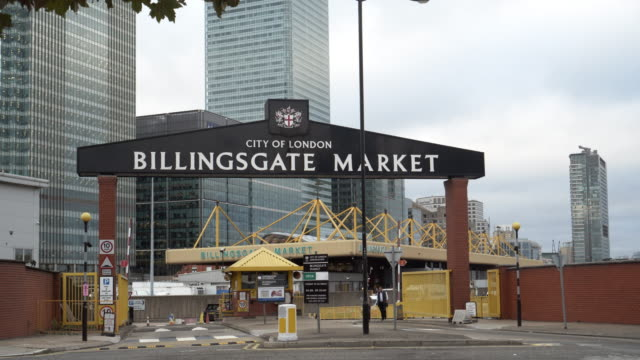 Billingsgate Fish Market in London Canary Wharf