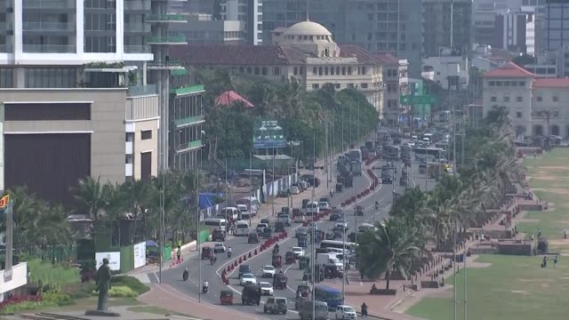 Billions in Chinese loans leave Sri Lanka in diplomatic debt trap Sri Lanka Colombo Port City Colombo construction site / Lotus Tower / Dr Harina...