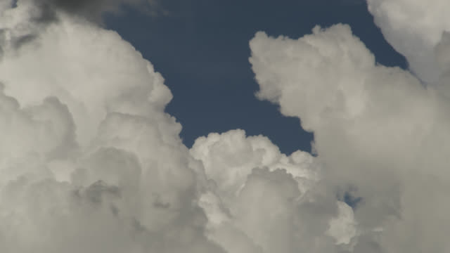 Billowing clouds.