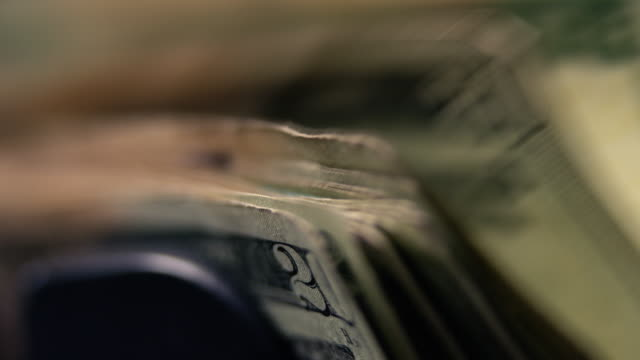 $20 Bills in Money Counting Machine