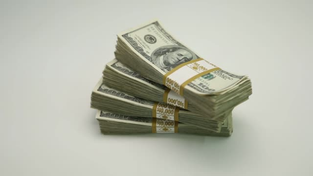 stack of u.s. $100 bills - stack stock videos & royalty-free footage
