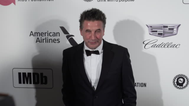 vídeos de stock, filmes e b-roll de billy baldwin at the 27th annual elton john aids foundation academy awards viewing party sponsored by imdb and neuro drinks on february 24 2019 in... - baldwin awards