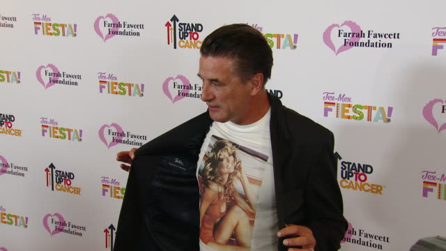 "billy baldwin at the farrah fawcett foundation's ""texmex fiesta"" in los angeles ca - farrah fawcett stock videos and b-roll footage"