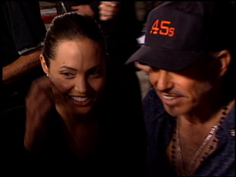 Billy Bob Thornton and Angelina Jolie at the 'Bandits' Premiere on October 4 2001