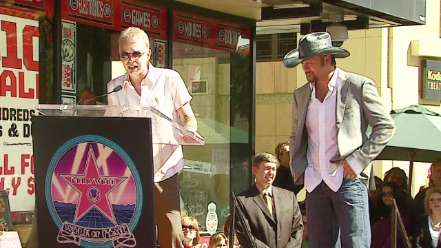 Billy Bob Thornton and Tim McGraw at the Dediction of Tim McGraw's Star on the Walk of Fame at Hollywood in Hollywood California on October 17 2006