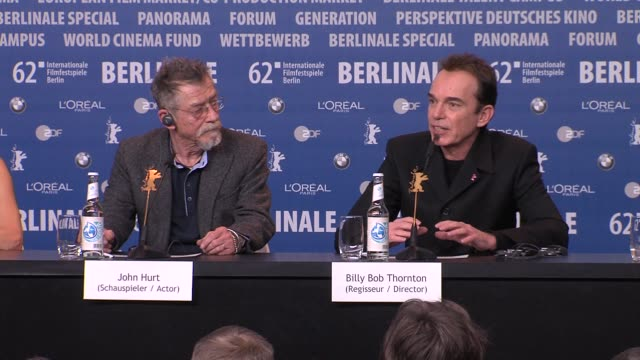Billy Bob Thornton on the themes of the film at Jayne Mansfield's Car Interview 62nd International Berlin Film Festival 2012 at on February 14 2012...