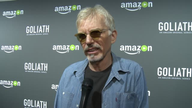 INTERVIEW Billy Bob Thornton on what Goliath is about on how the show is reflective of what is going on in the world today on what people can expect...