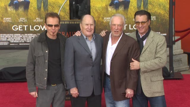 Billy Bob Thornton Robert Duvall James Caan and Andy Garcia at the Robert Duvall Hand And Footprint Ceremony at Hollywood CA