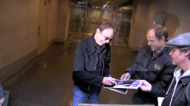 Billy Bob Thornton signs autographs for fans as he departs NBC Studios in New York 11/02/11