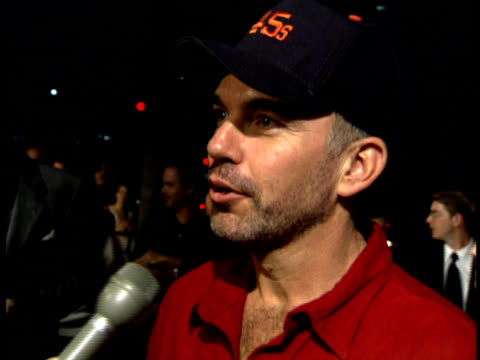 Billy Bob Thornton speaks to a reporter about the film
