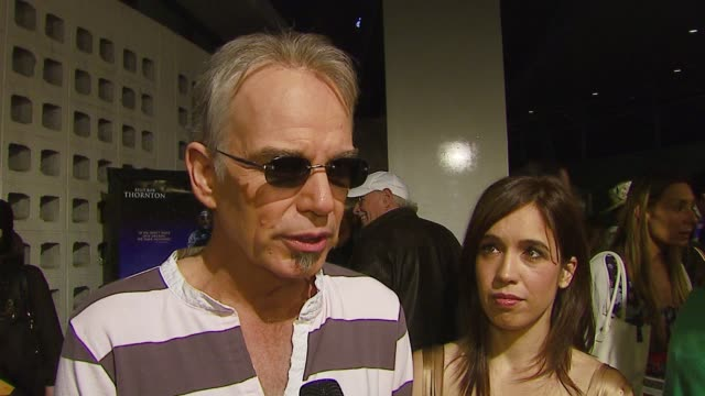 billy bob thornton talks about why he was attracted to the film his passion for his family his upcoming album at the 'the astronaut farmer' premiere... - the astronaut farmer stock videos and b-roll footage