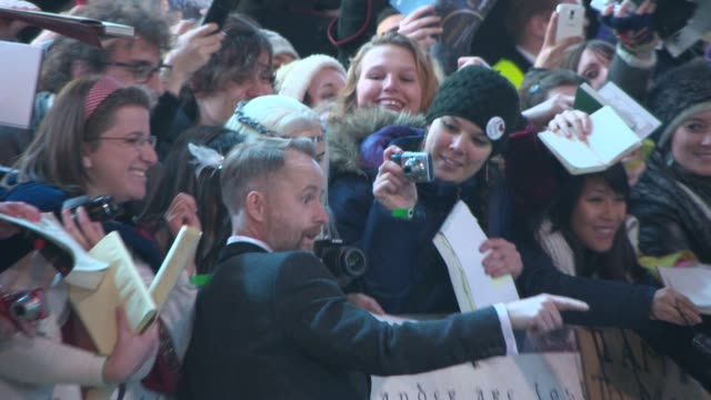 billy boyd, adam brown at 'the hobbit: the battle of the five armies' world premiere at odeon leicester square on december 01, 2014 in london,... - the hobbit: the battle of the five armies stock videos & royalty-free footage