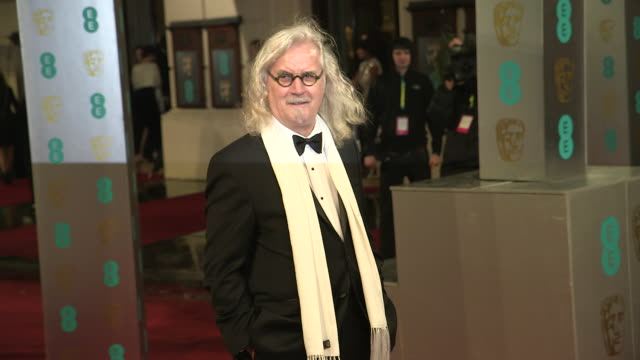 billy connolly at ee british academy film awards 2013 red carpet arrivals at the royal opera house on february 10, 2013 in london, england - billy connolly stock videos & royalty-free footage