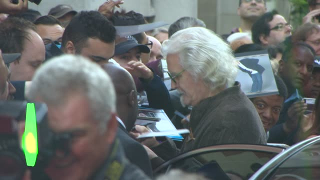 stockvideo's en b-roll-footage met billy connolly at 'what we did on our holiday' uk film premiere at odeon west end on september 22 2014 in london england - billy connolly