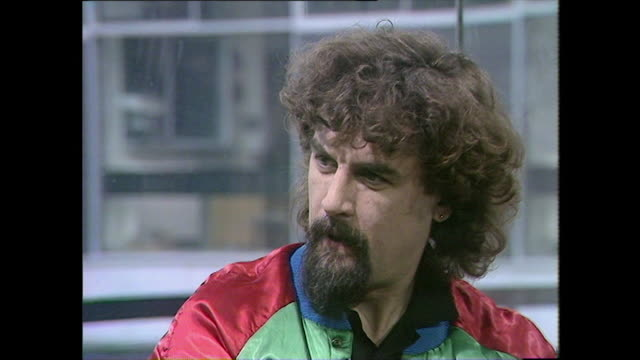"billy connolly explains why he is becoming an author and how he hopes to ""stay ahead of the game"" when it comes to earning money when he keeps being... - billy connolly stock videos & royalty-free footage"