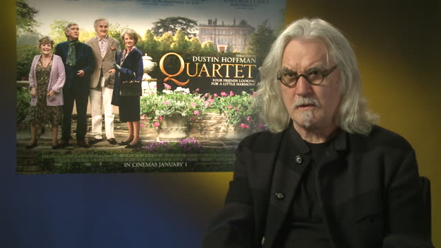 billy connolly on award season and hopes for the film at 'quartet' interviews at soho hotel on december 11, 2012 in london, england. - billy connolly stock videos & royalty-free footage