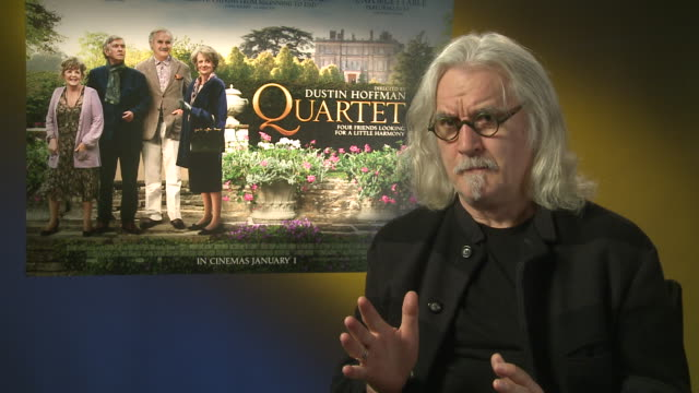 billy connolly on being in 'the hobbit' at 'quartet' interviews at soho hotel on december 11, 2012 in london, england. - billy connolly stock videos & royalty-free footage