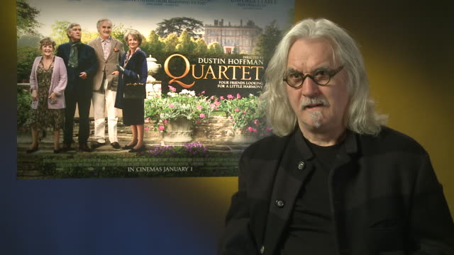 billy connolly on his character and how he approached it at 'quartet' interviews at soho hotel on december 11, 2012 in london, england. - billy connolly stock videos & royalty-free footage
