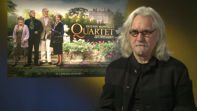 billy connolly on his role, what it was like on set at 'quartet' interviews at soho hotel on december 11, 2012 in london, england. - billy connolly stock videos & royalty-free footage