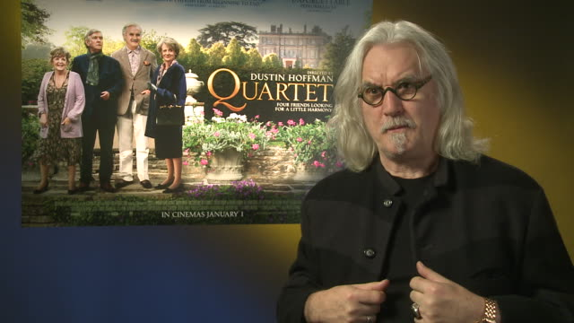 billy connolly on singing in the film at 'quartet' interviews at soho hotel on december 11, 2012 in london, england. - billy connolly stock videos & royalty-free footage