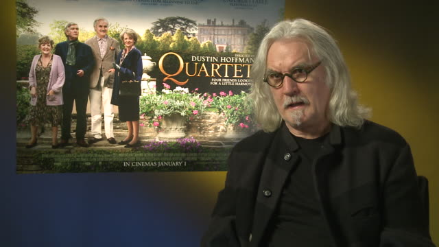 billy connolly on working with dustin hoffman, what he is like as a director at 'quartet' interviews at soho hotel on december 11, 2012 in london,... - billy connolly stock videos & royalty-free footage