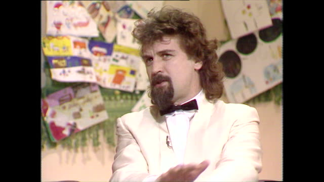 billy connolly speaking in 1983 wants to try working for peace by getting rid of the evil the bomb they've actually given war a good nameall weapons... - neckwear stock videos and b-roll footage