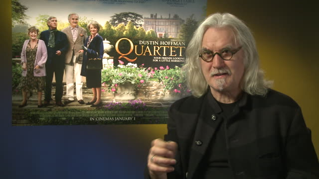 billy connolly working with such a high calibre cast at 'quartet' interviews at soho hotel on december 11, 2012 in london, england. - billy connolly stock videos & royalty-free footage