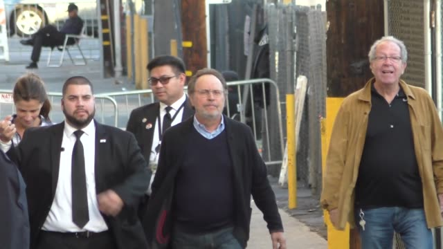 billy crystal arriving to jimmy kimmel live in hollywood in celebrity sightings in los angeles - jimmy kimmel stock videos and b-roll footage