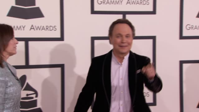 billy crystal at 56th annual grammy awards arrivals at staples center on in los angeles california - billy crystal stock videos & royalty-free footage