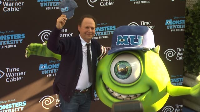 billy crystal at monsters university world premiere on 6/17/13 in los angeles ca - billy crystal stock videos & royalty-free footage