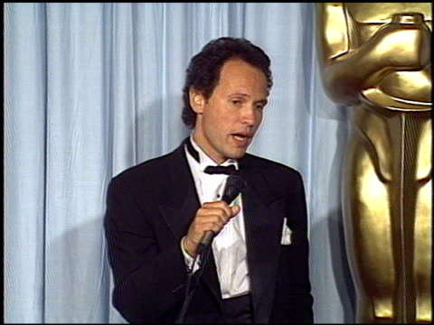 billy crystal at the 1988 academy awards at the shrine auditorium in los angeles california on april 1 1988 - billy crystal stock videos & royalty-free footage