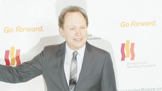billy crystal at the third annual los angeles gala for the christopher and dana reeve foundation honoring robin williams at the century plaza hotel... - christopher and dana reeve foundation stock videos and b-roll footage