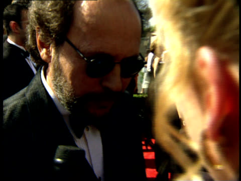 vídeos de stock, filmes e b-roll de billy crystal talks to reporters on the red carpet at the 50th annual emmy awards - billy crystal