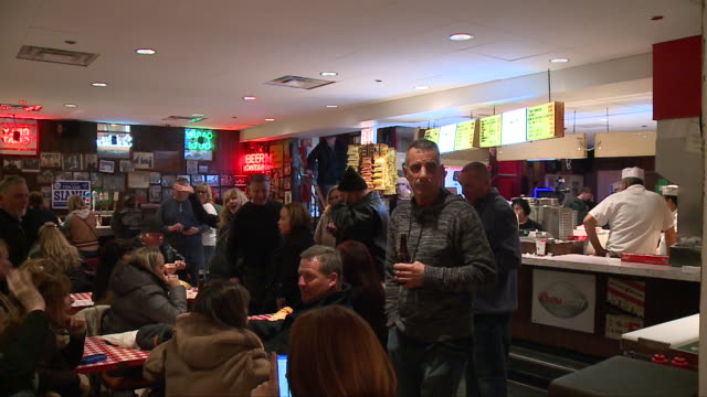 wgn billy goat tavern interior in chicago on march 16 2018 - pub stock videos & royalty-free footage