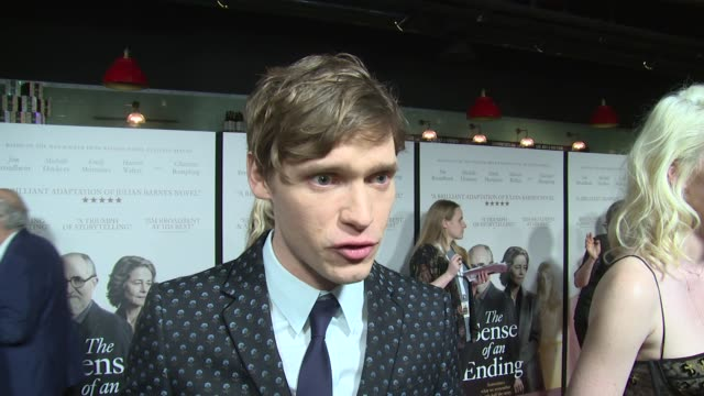 Billy Howle on filming experiences cast relationships and playing a younger Jim Broadbent on April 06 2017 in London England