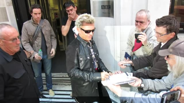 billy idol at bbc radio 2 at celebrity sightings in london on october 28, 2014 in london, england. - bbc radio stock videos & royalty-free footage