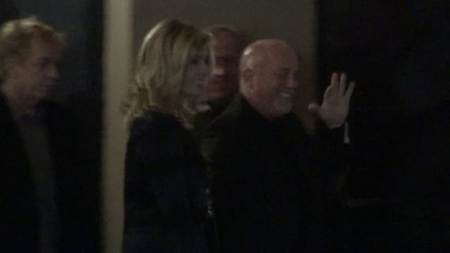 stockvideo's en b-roll-footage met billy joel alexis roderick at stings 60th birthday concert at the beacon theater in new york 10/01/11 - billy joel