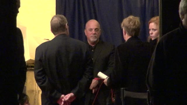 stockvideo's en b-roll-footage met billy joel at stings 60th birthday concert at the beacon theater in new york 10/01/11 - billy joel