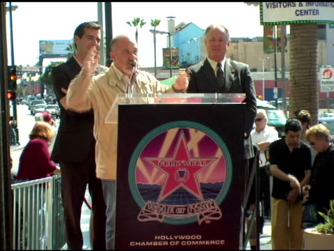 stockvideo's en b-roll-footage met billy joel at the dedication of billy joel's star on hollywood walk of fame at hollywood boulevard in hollywood california on september 20 2004 - billy joel