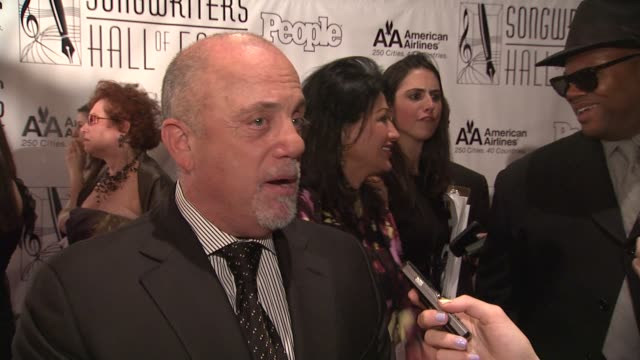 stockvideo's en b-roll-footage met billy joel at the songwriters hall of fame 2011 annual awards gala at new york ny - billy joel