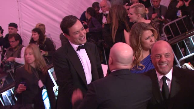 stockvideo's en b-roll-footage met billy joel at the 'the model as muse embodying fashion' costume institute gala at the metropolitan museum of art arrivals at new york ny - billy joel