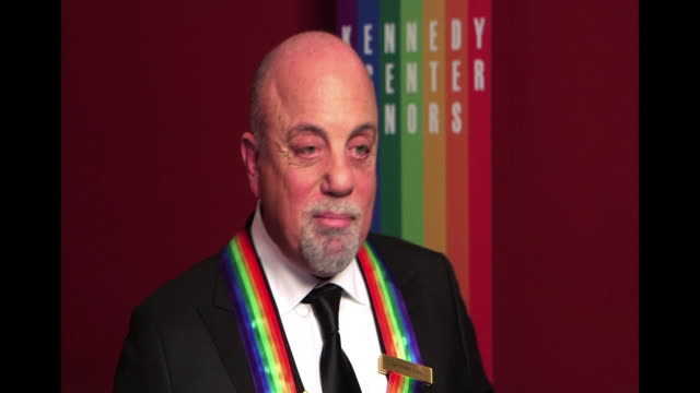stockvideo's en b-roll-footage met billy joel talks about being awarded a kennedy center honor - billy joel