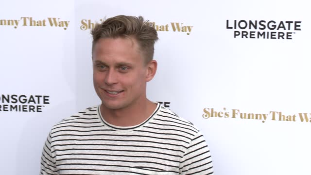 """billy magnussen at the """"she's funny that way"""" los angeles premiere at harmony gold theatre on august 19, 2015 in los angeles, california. - she's funny that way点の映像素材/bロール"""