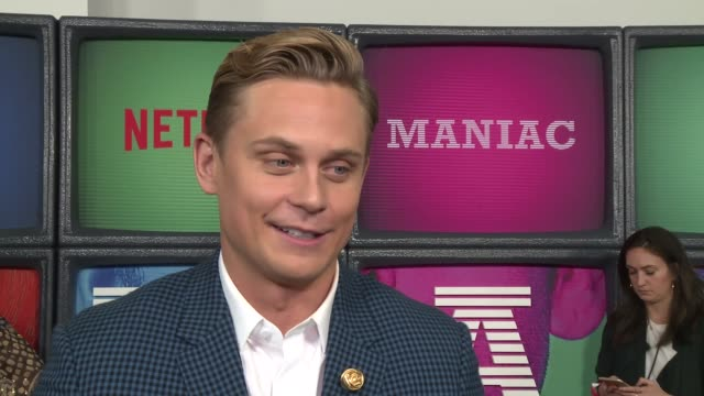 interview billy magnussen on the new series and playing the villain at a netflix original series maniac new york premiere at center 415 on september... - netflix stock videos & royalty-free footage